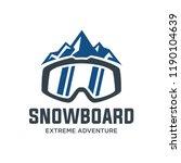 snowboard logo  vector... | Shutterstock .eps vector #1190104639