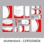 corporate identity set template ...   Shutterstock .eps vector #1190106826