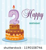 cake with a candle in the... | Shutterstock .eps vector #1190108746