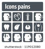 icons pains. illustration set... | Shutterstock .eps vector #119012080
