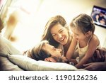 weekend morning. happy family... | Shutterstock . vector #1190126236