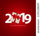 happy new year 2019 background. ... | Shutterstock .eps vector #1190138059
