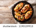 chicken breast baked with... | Shutterstock . vector #1190139913