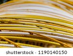 detail on iron rods painted in... | Shutterstock . vector #1190140150