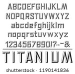 font in stone stylewith...   Shutterstock .eps vector #1190141836