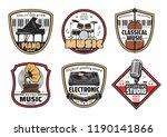 musical instrumentsvector icons.... | Shutterstock .eps vector #1190141866