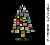 christmas tree made from photo... | Shutterstock .eps vector #1190142826