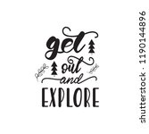 lettering design with a travel... | Shutterstock .eps vector #1190144896