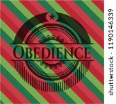 obedience christmas style badge.... | Shutterstock .eps vector #1190146339