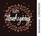happy thanksgiving day card... | Shutterstock .eps vector #1190149243