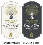 vector set of two labels for... | Shutterstock .eps vector #1190151586