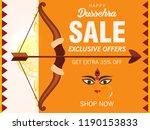shubh dussehra wallpaper sale... | Shutterstock .eps vector #1190153833