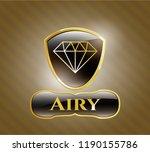 golden emblem or badge with...   Shutterstock .eps vector #1190155786