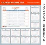 calendar planner stationery... | Shutterstock .eps vector #1190157379
