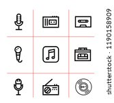 song icon set. microphone ... | Shutterstock .eps vector #1190158909
