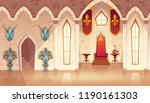 vector castle hall with windows.... | Shutterstock .eps vector #1190161303