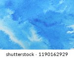 abstract hand painted  blue ... | Shutterstock . vector #1190162929