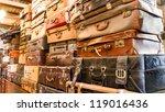 Pile Of Old Vintage Bag...