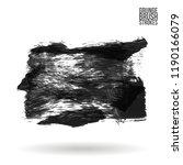 grey  brush stroke and texture. ... | Shutterstock .eps vector #1190166079