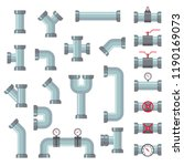 different water tube pipes...   Shutterstock .eps vector #1190169073