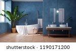 luxurious modern bathroom... | Shutterstock . vector #1190171200