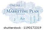 word cloud with text marketing... | Shutterstock . vector #1190172319