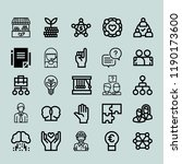 teamwork icon set. project...   Shutterstock .eps vector #1190173600