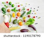 healthy organic nutritious diet.... | Shutterstock . vector #1190178790