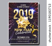 2019 party flyer poster vector. ... | Shutterstock .eps vector #1190183713