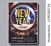 2019 party flyer poster vector. ...   Shutterstock .eps vector #1190183716