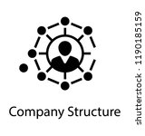 a creative company structure... | Shutterstock .eps vector #1190185159