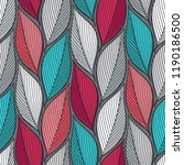 stylized colorful leaves... | Shutterstock . vector #1190186500