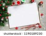 christmas mock up for greeting... | Shutterstock . vector #1190189230