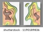 vector paper cut layouts design ... | Shutterstock .eps vector #1190189836