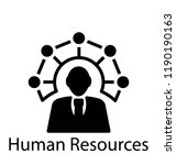 solid icon design of human... | Shutterstock .eps vector #1190190163