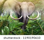 elephant out of the jungle....   Shutterstock . vector #1190190610