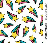 Rainbow Shooting Star Pastel...