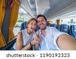 backpackers traveling around... | Shutterstock . vector #1190192323