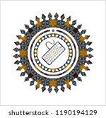 keyboard icon inside arabesque... | Shutterstock .eps vector #1190194129