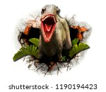 elephant out of the jungle.... | Shutterstock . vector #1190194423