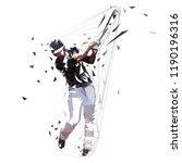 baseball player in black jersey ... | Shutterstock .eps vector #1190196316