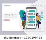 couple chatting illustration...   Shutterstock .eps vector #1190199436