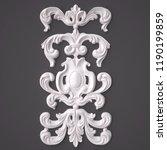 3d rendering beautiful white... | Shutterstock . vector #1190199859