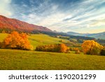 landscape with a trees in... | Shutterstock . vector #1190201299