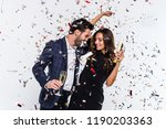 party for two  young beautiful... | Shutterstock . vector #1190203363