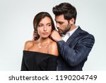 perfect gift from loving man.... | Shutterstock . vector #1190204749