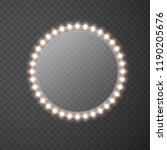 light circle banner isolated on ... | Shutterstock .eps vector #1190205676
