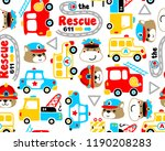 seamless pattern vector with... | Shutterstock .eps vector #1190208283