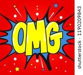 omg oh my god pop art style...   Shutterstock .eps vector #1190209843