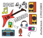 collection of vector musical... | Shutterstock .eps vector #1190210803
